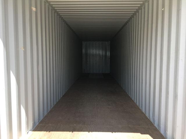 40' storage container interior
