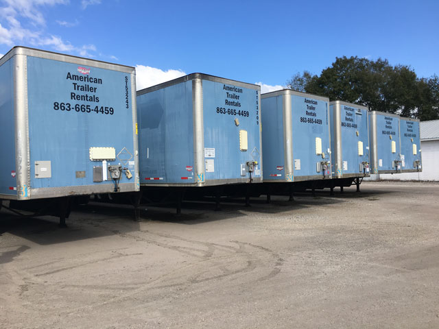 53' Storage Trailers for rent