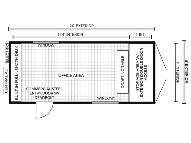 Office Container Floor Plan