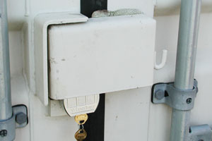 Master Lock on Container