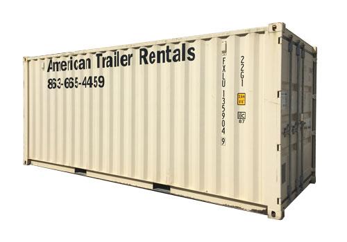 20' Double Door Storage Container for rent