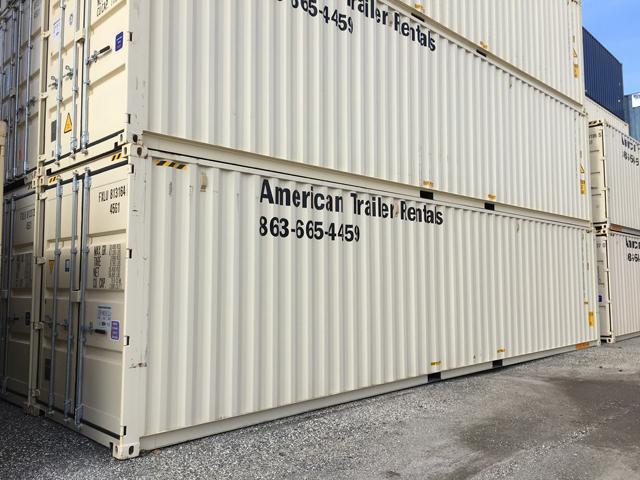 40' high cube double door storage container