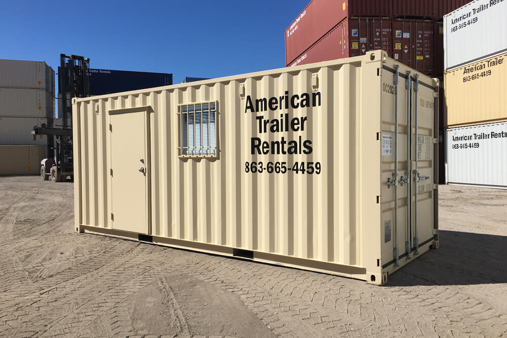 "20"" Office Container with storage"