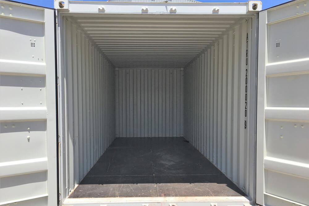 20' Storage Container Interior