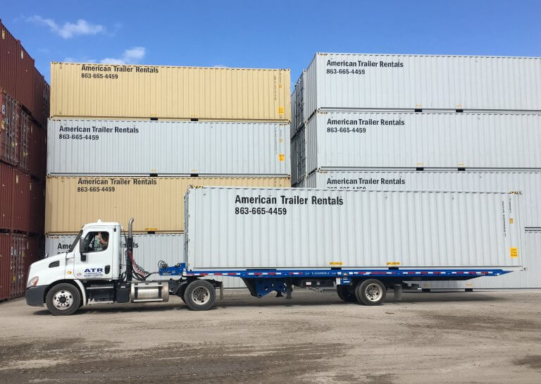 40' Container on Truck