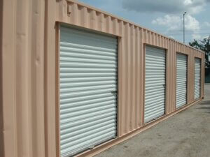 Shipping Container with Rolls Doors