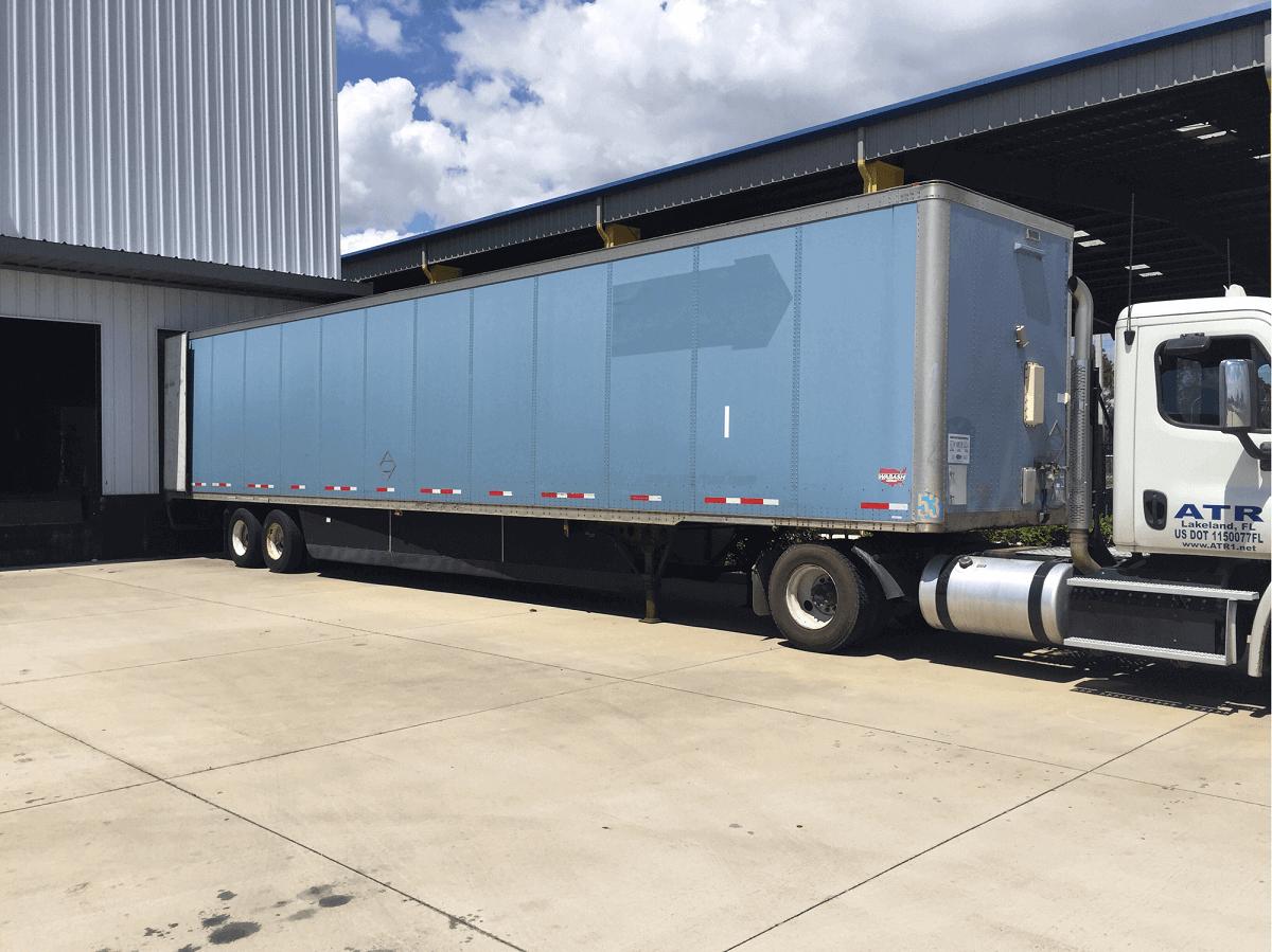 53' Storage Trailer at Loading Dock